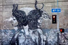 Dtoar/Christina Angelina and Fin DAC (2013) - 4th St, Los Angeles, California (USA)
