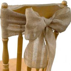 Vintage Rustic Burlap Chair Sash