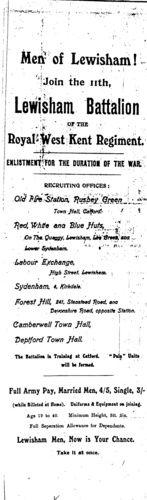Men of Lewisham! Recruiting poster for the Lewisham battalion of the Royal West Kent Regiment War Memorials, Homestead, Posters, Memories, Queen, London, History, Memoirs, Souvenirs