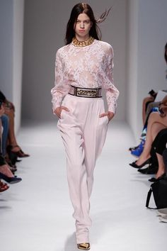 Balmain Spring 2014 - i just really don't like this model, despite who her mom is