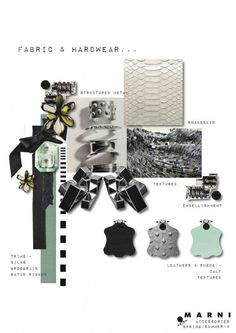 MARNI FABRIC AND HARDWEAR. See more inspirations. This is very much a school style project.