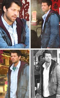 """People had issues with """"I'm No Angel"""" but if this scene didn't show how lost Cas was, then I don't know what you were watching. Cas was so lost, he almost had an anxiety attack in the middle of that street...but being that he is strong as angel or human he stowed the emotion and went into the tattoo shop..."""