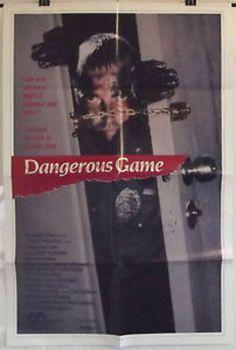 DANGEROUS GAME - MILES BUCHANAN / STEVEN GRIVES - ORIGINAL USA 1SHT MOVIE POSTER
