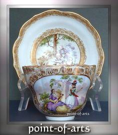 Meissen Porcelain Coffee Gedeck 1850 antique porcelain coffee cup & saucer 1850