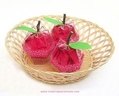 Recycled plastic cup apples craft for rosh hashana