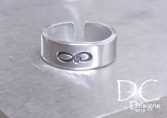 Check out this item in my Etsy shop https://www.etsy.com/listing/466099856/infinity-ring-hand-stamped-ring-free