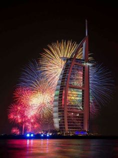 A fire engulfed The Address Hotel in downtown Dubai in the United Arab Emirates hours before a large New Year's Eve fireworks display was set to start nearby from the Burj Khalifa tower. The fireworks went ahead as planned Address Hotel, Happy New Year Friends, Places To Travel, Places To Visit, New Years Eve Fireworks, Living In Dubai, Burj Al Arab, Fire Works, Skyline