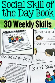 Learn and discuss a new social skill each week lasting the whole school year!  This book is editable and includes visuals!