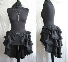 Bustle skirt Segura, burlesque, victorian, steampunk, goth, Somnia Romantica by Marjolein Turin. $119.00, via Etsy.
