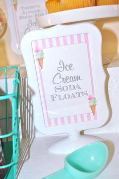 Ice Cream Birthday 4x6 SIGNS Sweet Shoppe Vintage Ice Cream