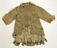 1880 Dress Culture: American Medium: silk