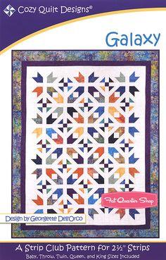 Galaxy Quilt Pattern Cozy Quilt Designs CQ-01074 - Fat Quarter Shop