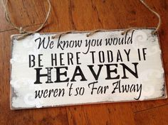 Wedding sign heaven by KerriArt on Etsy, $14.99
