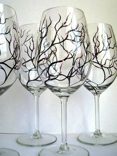 diy spooky tree glasses!  So going to do this!