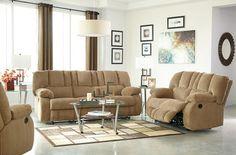Roan Mocha 3 Pc. Reclining Sofa, Reclining Loveseat & Rocker Recliner