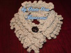 crochet braided neck warmer
