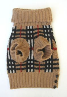 Burberry Nova Check Wool Dog Sweater Turtleneck S   eBay...Lady Beatrice Eugenie is English afterall. How can you have a proper English dog without some Nova check?