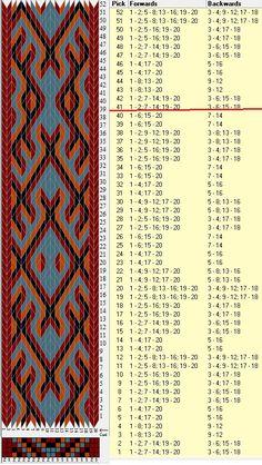 20 tarjetas, 4 colores, repite cada 40 movimientos // sed_916a diseñado en GTT༺❁