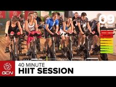 HIIT - 40 Minute Intense Cycle Training Workout - Hill Intervals - YouTube