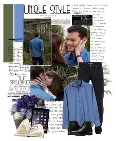 A menswear look from December 2017 featuring mens patterned shirts, mens zipper jeans and mens toe cap boots. Browse and shop related looks. Anastasia Steele Outfits, Fifty Shades Of Grey, 50 Shades, Christian Grey, Alexander Mcqueen, Men's Fashion, Menswear, My Style, Polyvore