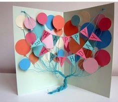 Como hacer una tarjeta de cumpleaños | Manualidades