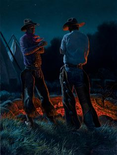 I love the use of light in this painting.  2013 Cowboy Artists of America > Clark Kelley Price