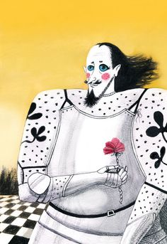 Maria Mikhalskaya: The White Knight from Through the Looking Glass by Lewis Carroll