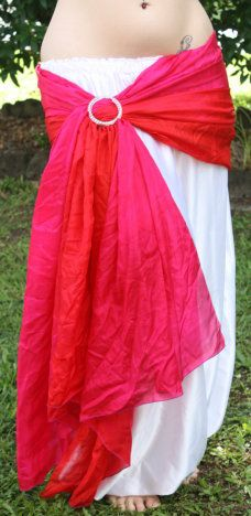 Basics for an outdoor show - Hip scarf from a decorative buckle and a veil (or other such length of fabric)