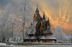 This is the largest Stave Church in Norway, and about 800 years old.