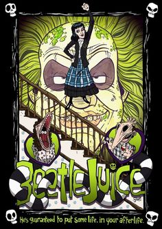 Beetle Juice.  Art poster.  Live Artfully
