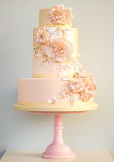 Floral Couture: Wedding Cake Trend | Rosalind Miller Luxury Wedding Cakes, pink gold // Pinned by Dauphine Magazine x Castlefield - Curated by Castlefield Bridal & Branding Atelier and delivering the ultimate experience for the haute couture connoisseur! Visit www.dauphinemagazine.com, @dauphinemagazine on Instagram, and @dauphinemag on Pinterest • Visit Castlefield: www.castlefield.co and @ castlefieldco on Instagram / Luxury, fashion, weddings, bridal style, décor, travel, art, design…