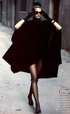 Linda Evangelista .. Vogue Italia 1988 by Peter Lindbergh
