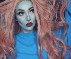 "@itslikelymakeup looking like a gorgeous creature from the black lagoon with this Halloween inspired makeup look featuring our #IconicLashes!   Repost: can we also talk about this amazing wig from @everydaywigscom? obsessed  lips are ""love bug"" by #colourpop  lashes are ""iconic"" by #houseoflashes  brows are ""ash brown"" dip brow by #anastasiabeverlyhills ❤️"