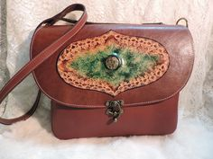 Large Leather Bag Beautiful hand tooled by RoundOakLeather on Etsy