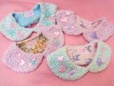 Kawaii fuzzy fairy kei collars
