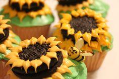Sunflower/Bumblebee Cupcakes