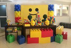 27 Ideas children party themes lego birthday for 2019 Lego Themed Party, Lego Birthday Party, 6th Birthday Parties, 4th Birthday, Lego Parties, Birthday Ideas, Ninjago Party, Lego Ninjago, Lego Party Decorations