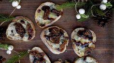 Vappu Pimiän pienet crostinileivät maistuvat juuri uunista tulleina parhaimmilta.