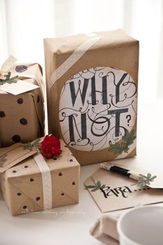 An idea for all those brown paper bags from the grocery store...turn them into gift packaging.  The blog's in Italian but...you get the picture.  Ciao a Tutti.  ;-)