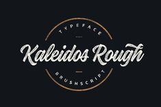 Kaleidos Rough - Kaleidos Rough lining brush script. It has two versions; Kaleidos Rough and Kaleidos Textu...
