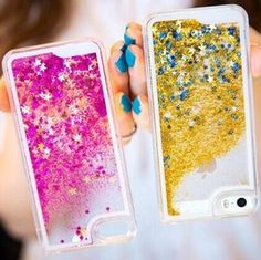 Fun Glitter Star Dynamic Liquid Back Case cover for iphone 6P 5.5inch transparent clear golden case funda carcasa de tapa marcas