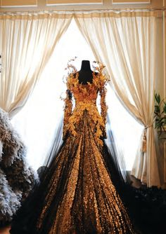 A dress fit for a Samhain Queen or a Fire Goddess... Designs by Tex Saverio #faerie More