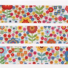 mt Washi Masking Tape deco tape colorful garden flowers 2