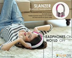 #Headphones compatible with all bluetooth enable & non bluetooth devices. #SlanzerTechnology #Bluetoothheadphones