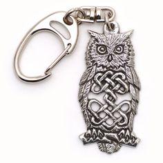 Celtic Owl Keyring // Gifts for Him, The Owl Barn
