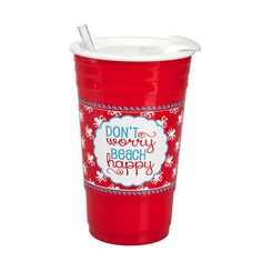Don't Worry Beach Happy Large Cup