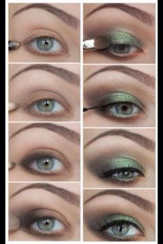 Here Are A Few Different Makeup Looks Have Green Eyes? Here Are A Few Different Makeup LooksHave Green Eyes? Here Are A Few Different Makeup Looks Daily Eye Makeup, Eye Makeup Steps, Green Eyeshadow, Eyeshadow Looks, False Lash Effect Mascara, Beginner Eyeshadow, Beauty Makeup, Hair Makeup, Makeup Eyes