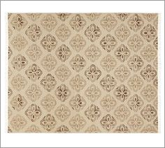 Alhambra Tile Dhurrie Rug - Espresso | Pottery Barn | 8x10 $499