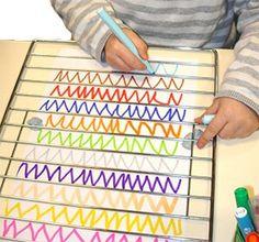 zigzag ac grille de four Motor Skills Activities, Montessori Activities, Infant Activities, Educational Activities, Fine Motor Skills, Preschool Activities, Pre Writing, Writing Skills, Kindergarten Art