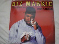 "BIZ MARKIE JUST A FRIEND 12"" VINYL SINGLE ORIGINAL 1989 COLD CHILLIN' RECORDS EX #EastCoastGFunkGangstaHardcoreOldSchool"